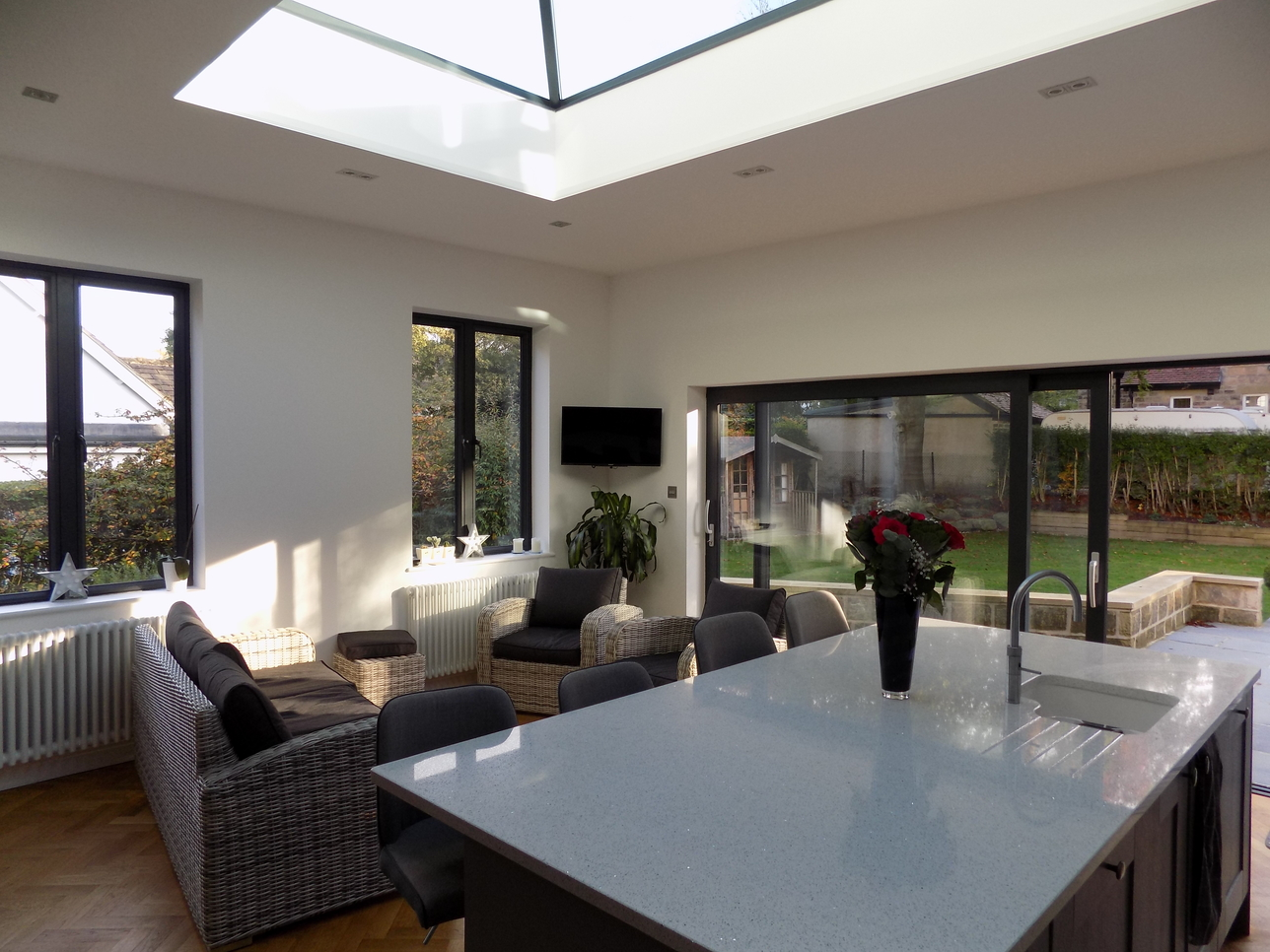 Modern Extension With Glass Roof Lantern Joe Bonner